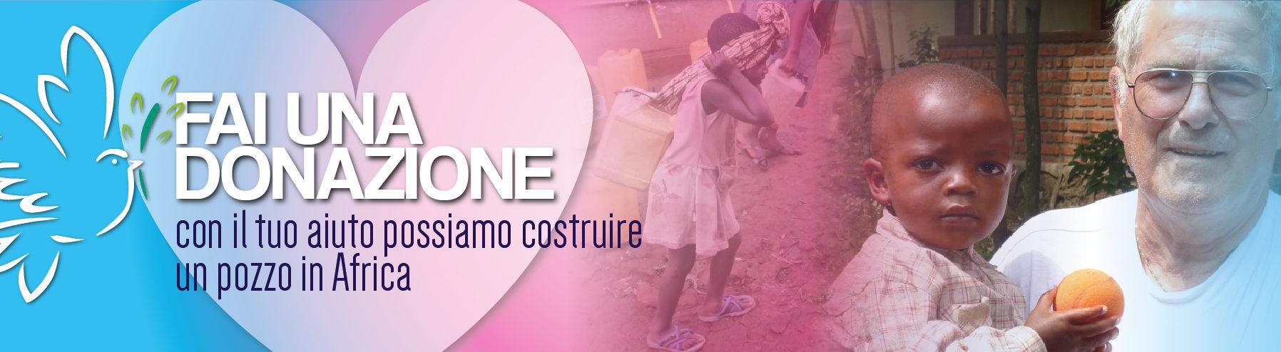 donazione;Africa;acqua;fame;sete;aiutare;pozzo;Congo;Raumer